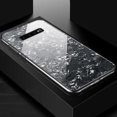 Coque Rebord Contour Silicone et Vitre Miroir Housse Etui U01 pour Samsung Galaxy S10 Plus Noir