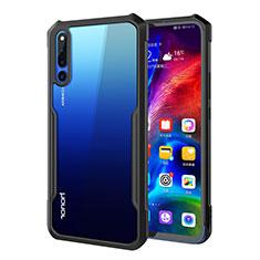 Coque Rebord Contour Silicone et Vitre Transparente Miroir Housse Etui A01 pour Huawei Honor Magic 2 Noir