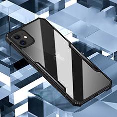 Coque Rebord Contour Silicone et Vitre Transparente Miroir Housse Etui H01 pour Apple iPhone 11 Noir