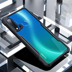 Coque Rebord Contour Silicone et Vitre Transparente Miroir Housse Etui H01 pour Huawei P20 Lite (2019) Noir