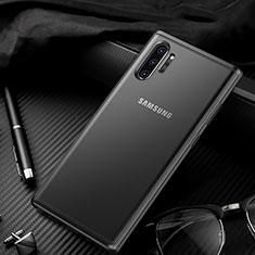 Coque Rebord Contour Silicone et Vitre Transparente Miroir Housse Etui H01 pour Samsung Galaxy Note 10 Plus 5G Noir