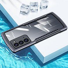 Coque Rebord Contour Silicone et Vitre Transparente Miroir Housse Etui H01 pour Samsung Galaxy Note 20 5G Gris