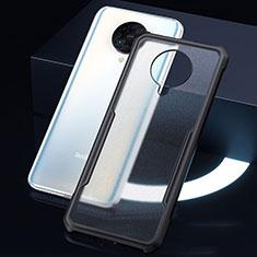 Coque Rebord Contour Silicone et Vitre Transparente Miroir Housse Etui H01 pour Xiaomi Poco F2 Pro Noir