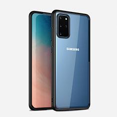 Coque Rebord Contour Silicone et Vitre Transparente Miroir Housse Etui H02 pour Samsung Galaxy S20 Plus Noir