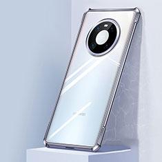 Coque Rebord Contour Silicone et Vitre Transparente Miroir Housse Etui M01 pour Huawei Mate 40 Argent