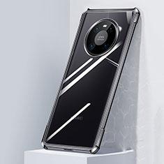 Coque Rebord Contour Silicone et Vitre Transparente Miroir Housse Etui M01 pour Huawei Mate 40 Noir