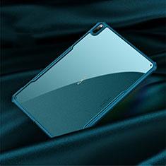 Coque Rebord Contour Silicone et Vitre Transparente Miroir Housse Etui M01 pour Huawei MatePad Pro 5G 10.8 Cyan