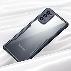 Coque Rebord Contour Silicone et Vitre Transparente Miroir Housse Etui M01 pour Samsung Galaxy Note 20 5G Noir