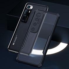 Coque Rebord Contour Silicone et Vitre Transparente Miroir Housse Etui M01 pour Xiaomi Mi 10 Ultra Noir