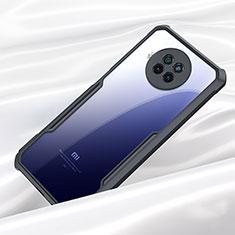 Coque Rebord Contour Silicone et Vitre Transparente Miroir Housse Etui M01 pour Xiaomi Mi 10i 5G Noir