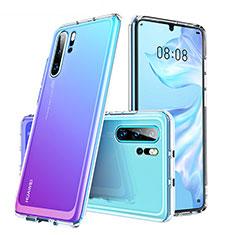 Coque Rebord Contour Silicone et Vitre Transparente Miroir Housse Etui M02 pour Huawei P30 Pro Clair