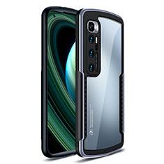 Coque Rebord Contour Silicone et Vitre Transparente Miroir Housse Etui M02 pour Xiaomi Mi 10 Ultra Argent