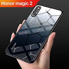 Coque Rebord Contour Silicone et Vitre Transparente Miroir Housse Etui M03 pour Huawei Honor Magic 2 Noir