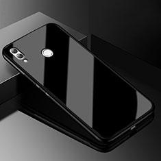 Coque Rebord Contour Silicone et Vitre Transparente Miroir Housse Etui M04 pour Huawei Honor 8X Noir