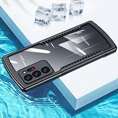 Coque Rebord Contour Silicone et Vitre Transparente Miroir Housse Etui M04 pour Samsung Galaxy Note 20 Ultra 5G Noir