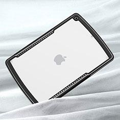 Coque Rebord Contour Silicone et Vitre Transparente Miroir Housse Etui pour Apple iPad 10.2 (2020) Noir