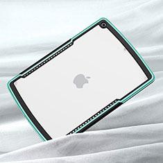 Coque Rebord Contour Silicone et Vitre Transparente Miroir Housse Etui pour Apple iPad 10.2 (2020) Vert