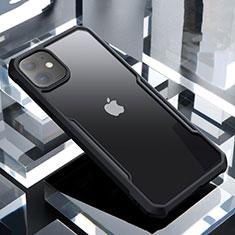 Coque Rebord Contour Silicone et Vitre Transparente Miroir Housse Etui pour Apple iPhone 11 Noir