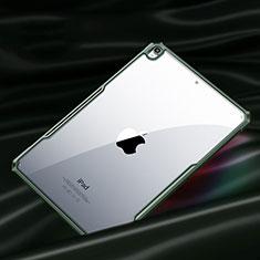 Coque Rebord Contour Silicone et Vitre Transparente Miroir Housse Etui pour Apple New iPad Air 10.9 (2020) Vert Nuit