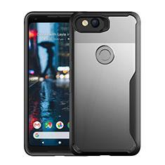 Coque Rebord Contour Silicone et Vitre Transparente Miroir Housse Etui pour Google Pixel 3 Noir