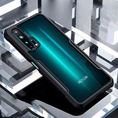 Coque Rebord Contour Silicone et Vitre Transparente Miroir Housse Etui pour Huawei Honor 20 Pro Noir