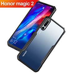Coque Rebord Contour Silicone et Vitre Transparente Miroir Housse Etui pour Huawei Honor Magic 2 Noir