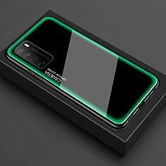 Coque Rebord Contour Silicone et Vitre Transparente Miroir Housse Etui pour Huawei Honor Play4 5G Vert