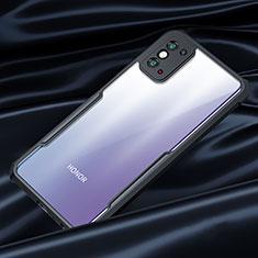 Coque Rebord Contour Silicone et Vitre Transparente Miroir Housse Etui pour Huawei Honor X10 Max 5G Noir