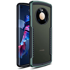 Coque Rebord Contour Silicone et Vitre Transparente Miroir Housse Etui pour Huawei Mate 40 Vert