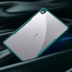 Coque Rebord Contour Silicone et Vitre Transparente Miroir Housse Etui pour Huawei MatePad 10.8 Cyan