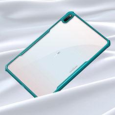 Coque Rebord Contour Silicone et Vitre Transparente Miroir Housse Etui pour Huawei MatePad 5G 10.4 Cyan