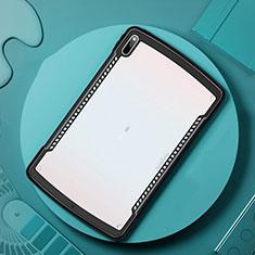 Coque Rebord Contour Silicone et Vitre Transparente Miroir Housse Etui pour Huawei MatePad Pro 5G 10.8 Noir