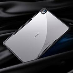 Coque Rebord Contour Silicone et Vitre Transparente Miroir Housse Etui pour Huawei MediaPad M6 10.8 Noir