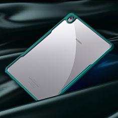 Coque Rebord Contour Silicone et Vitre Transparente Miroir Housse Etui pour Huawei MediaPad M6 8.4 Cyan