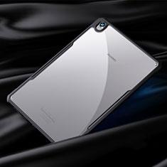 Coque Rebord Contour Silicone et Vitre Transparente Miroir Housse Etui pour Huawei MediaPad M6 8.4 Noir