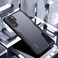 Coque Rebord Contour Silicone et Vitre Transparente Miroir Housse Etui pour Huawei P30 Pro Noir