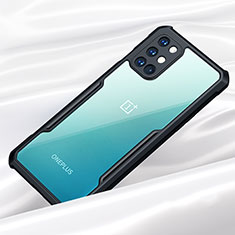 Coque Rebord Contour Silicone et Vitre Transparente Miroir Housse Etui pour OnePlus 8T 5G Noir
