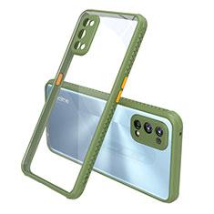 Coque Rebord Contour Silicone et Vitre Transparente Miroir Housse Etui pour Realme 7 Pro Vert