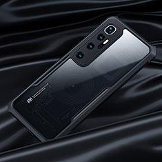 Coque Rebord Contour Silicone et Vitre Transparente Miroir Housse Etui pour Xiaomi Mi 10 Ultra Noir
