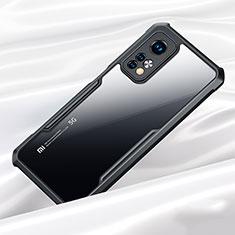 Coque Rebord Contour Silicone et Vitre Transparente Miroir Housse Etui pour Xiaomi Mi 10T Pro 5G Noir