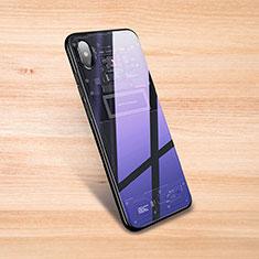 Coque Rebord Contour Silicone et Vitre Transparente Miroir Housse Etui S01 pour Xiaomi Mi 8 Pro Global Version Noir