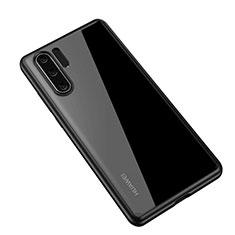 Coque Rebord Contour Silicone et Vitre Transparente Miroir Housse Etui Z01 pour Huawei P30 Pro Noir