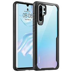 Coque Rebord Contour Silicone et Vitre Transparente Miroir Housse Etui Z02 pour Huawei P30 Pro Noir