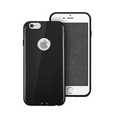 Coque Silicone avec Trou Souple Couleur Unie pour Apple iPhone 6 Plus Noir