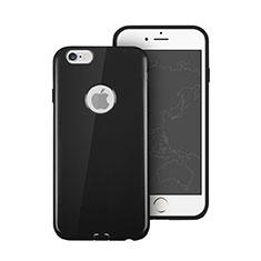 Coque Silicone avec Trou Souple Couleur Unie pour Apple iPhone 6S Noir