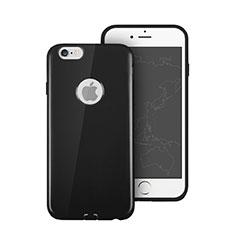 Coque Silicone avec Trou Souple Couleur Unie pour Apple iPhone 6S Plus Noir