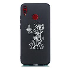 Coque Silicone Constellation Souple Couleur Unie Etui Housse S12 pour Huawei Honor V10 Lite Noir