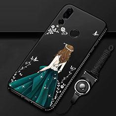 Coque Silicone Dos de Fille Souple Couleur Unie Etui Housse K01 pour Huawei Honor 20 Lite Vert