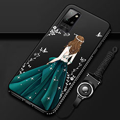 Coque Silicone Dos de Fille Souple Couleur Unie Etui Housse pour Huawei Honor Play4 Pro 5G Vert