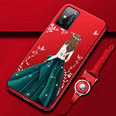 Coque Silicone Dos de Fille Souple Couleur Unie Etui Housse pour Huawei Honor X10 Max 5G Vert